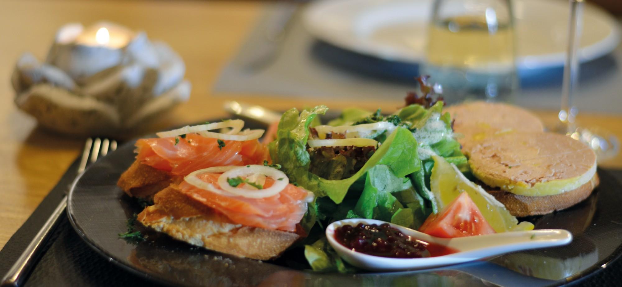 Restaurant-Schmuggelbud-Überherrn-Duett-Gänsestopfleber-Räucherlachs