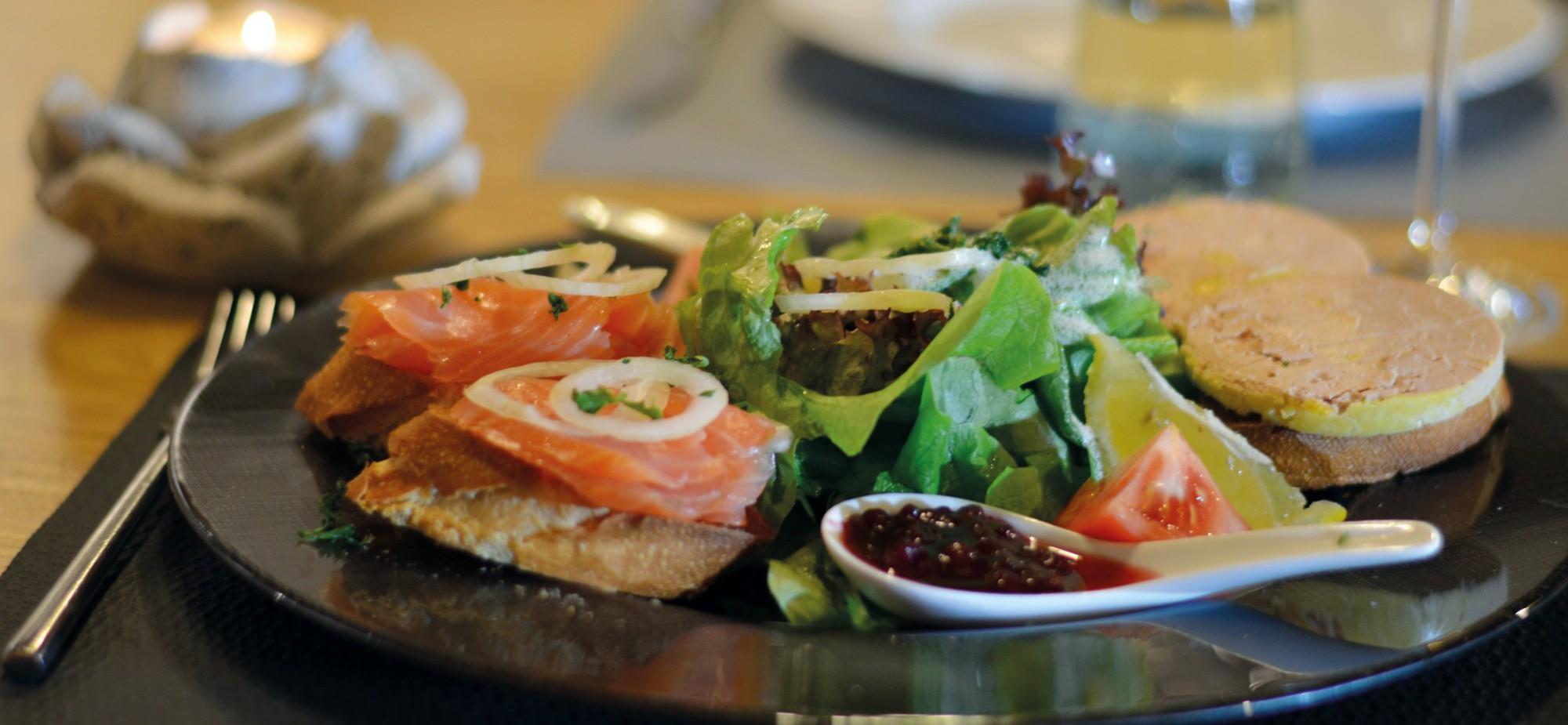 Restaurant-Schmuggelbud-Überherrn-Gänsestopfleber-Lachs-Foie-Gras