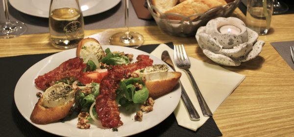 Salat Ziegenkäse Restaurant Schmuggelbud Überherrn Speisekarte